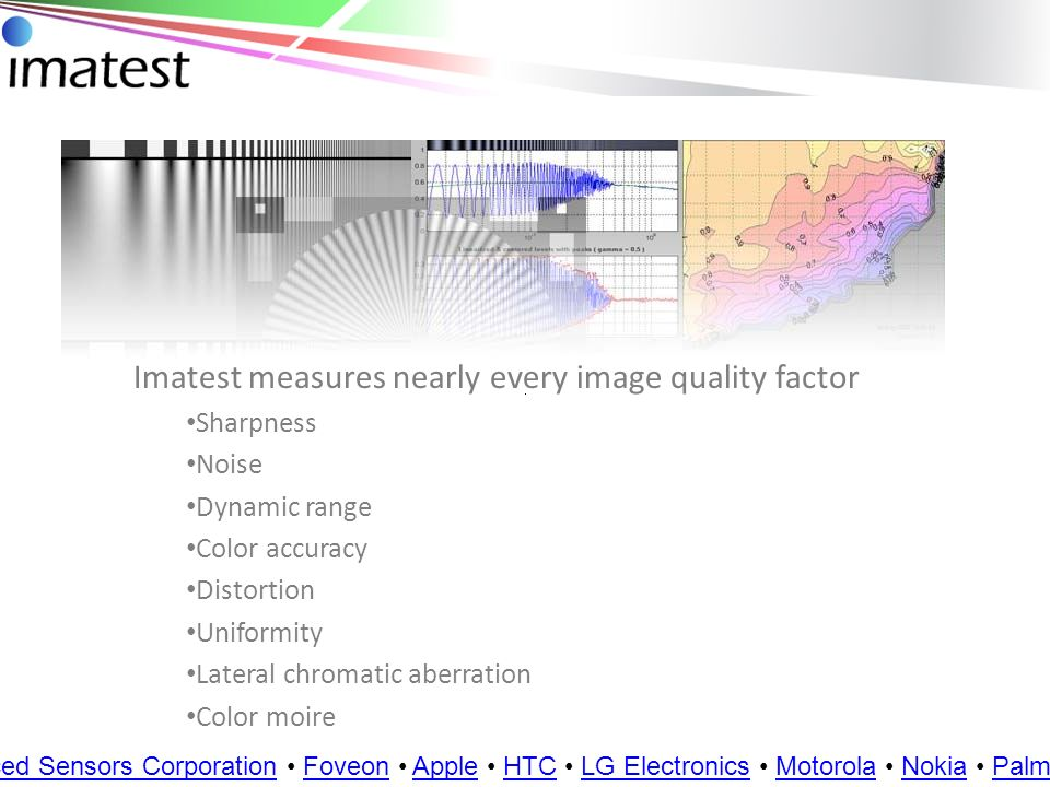Imatest measures nearly every image quality factor