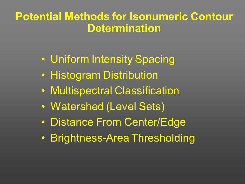 Potential Methods for Isonumeric Contour Determination