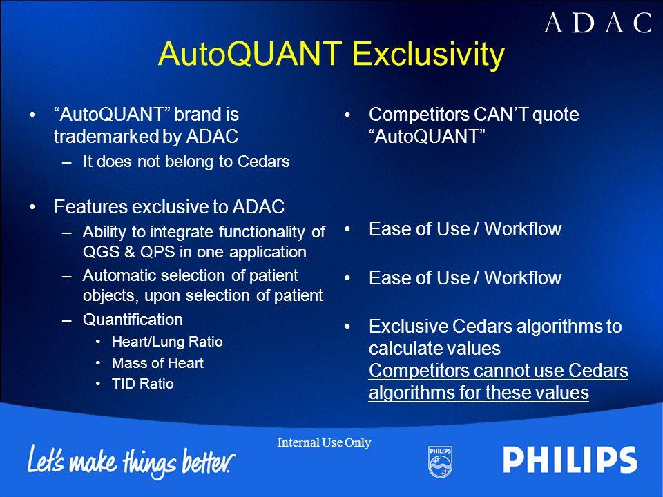 AutoQUANT Exclusivity