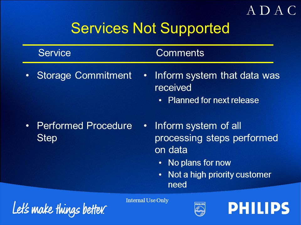 Services Not Supported