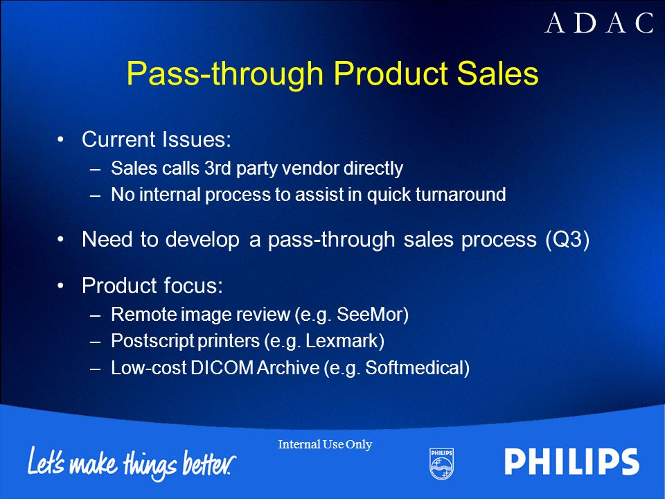 Pass-through Product Sales