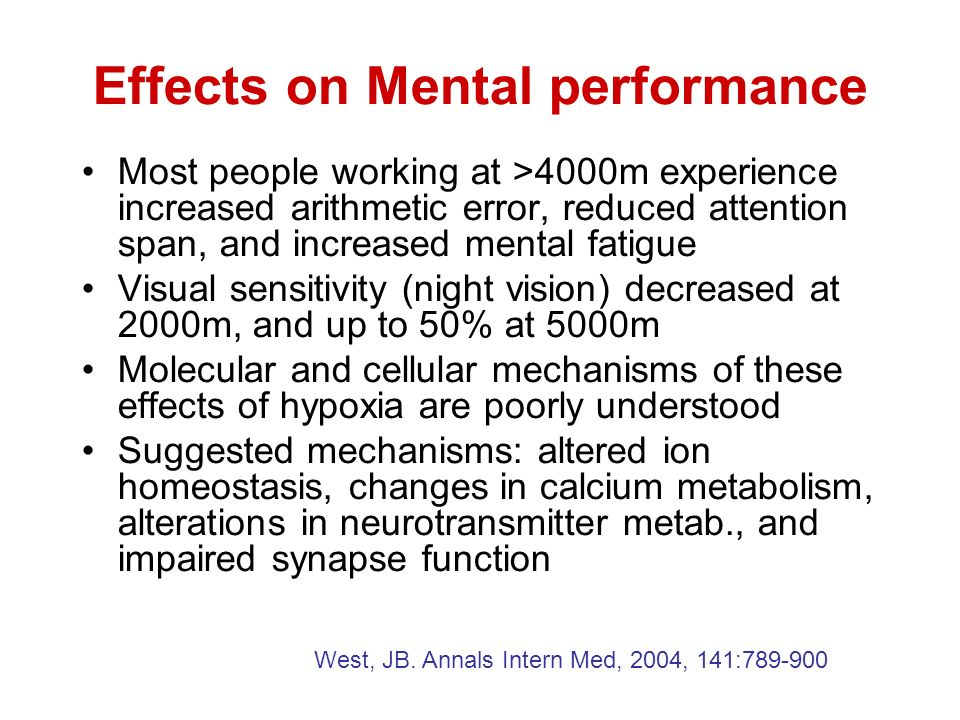 Effects on Mental performance
