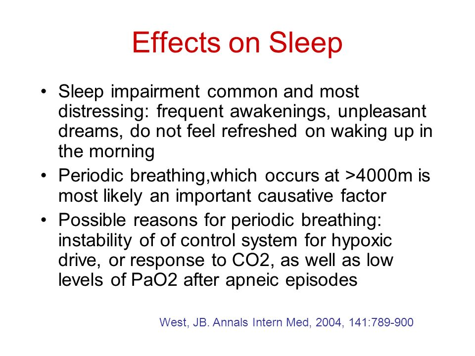 Effects on Sleep