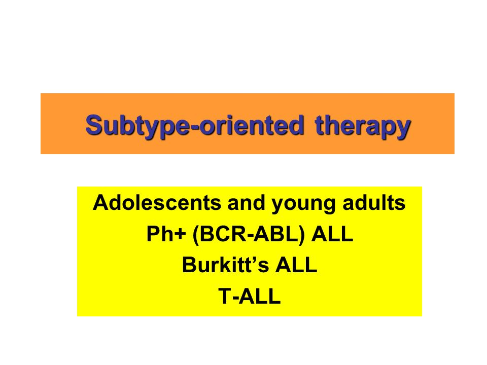 Subtype-oriented therapy