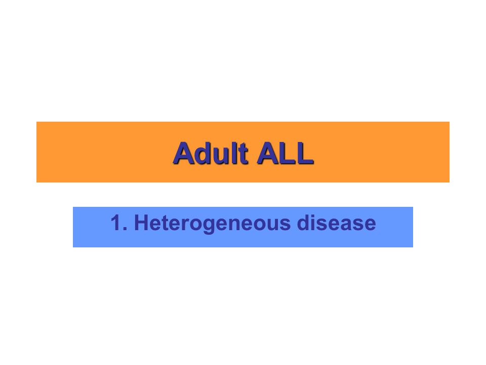 1. Heterogeneous disease