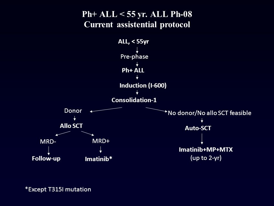 Ph+ ALL < 55 yr. ALL Ph-08 Current assistential protocol