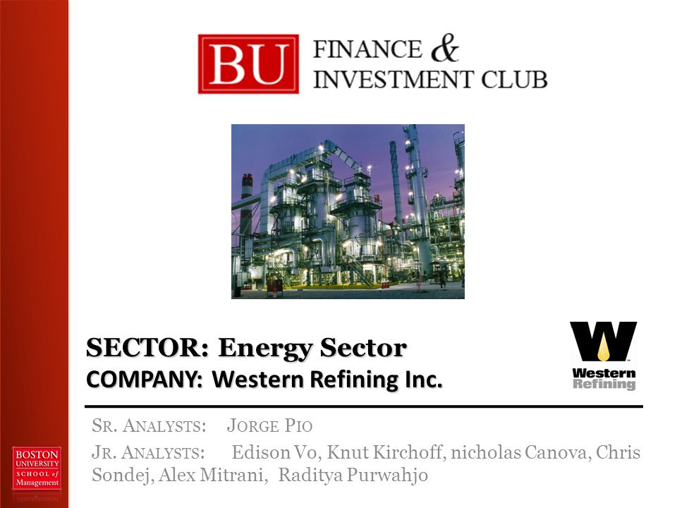 SECTOR: Energy Sector COMPANY: Western Refining Inc.