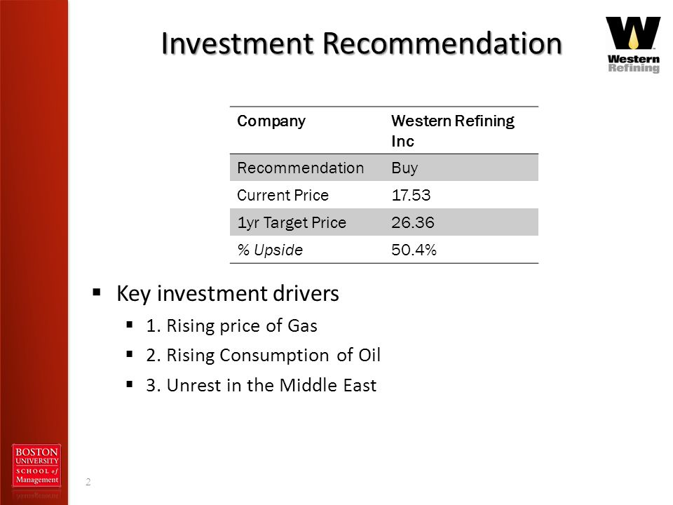 Investment Recommendation