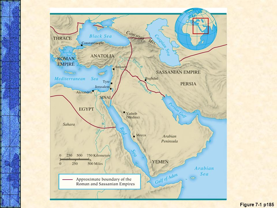 MAP 7. 1 The Middle East in the Time of Muhammad