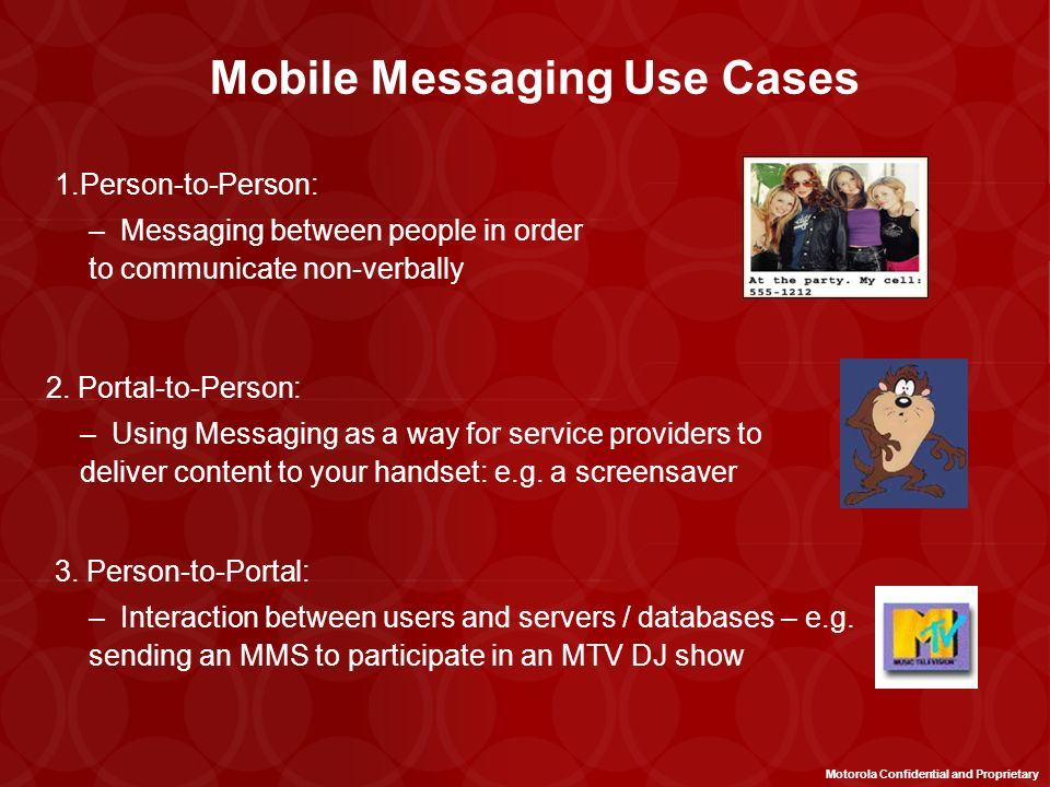 Mobile Messaging Use Cases