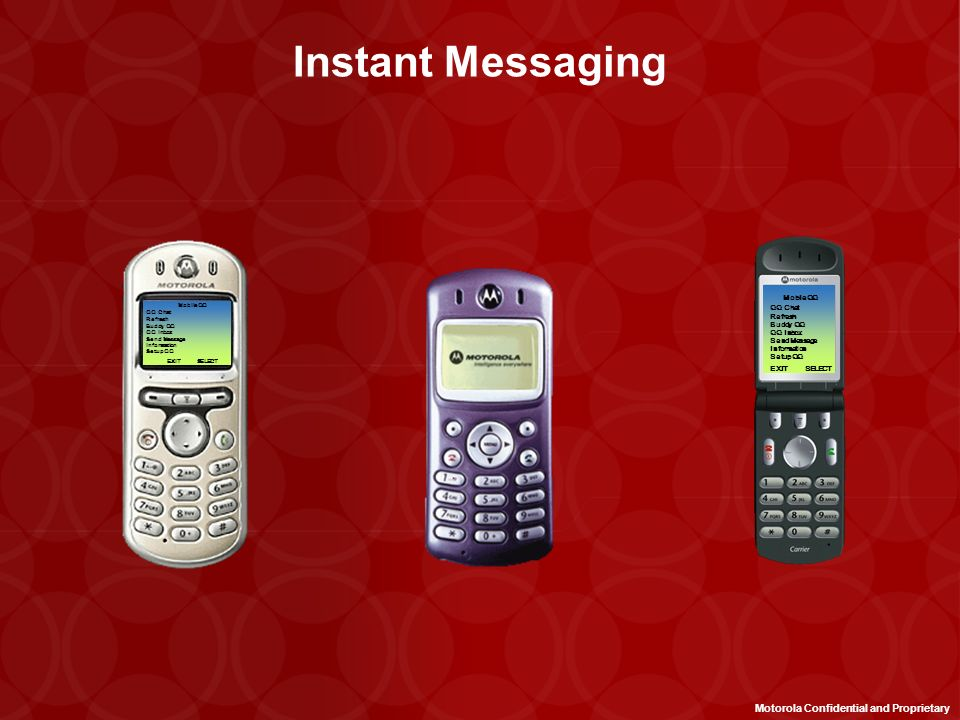 Instant Messaging Motorola Confidential and Proprietary Mobile QQ