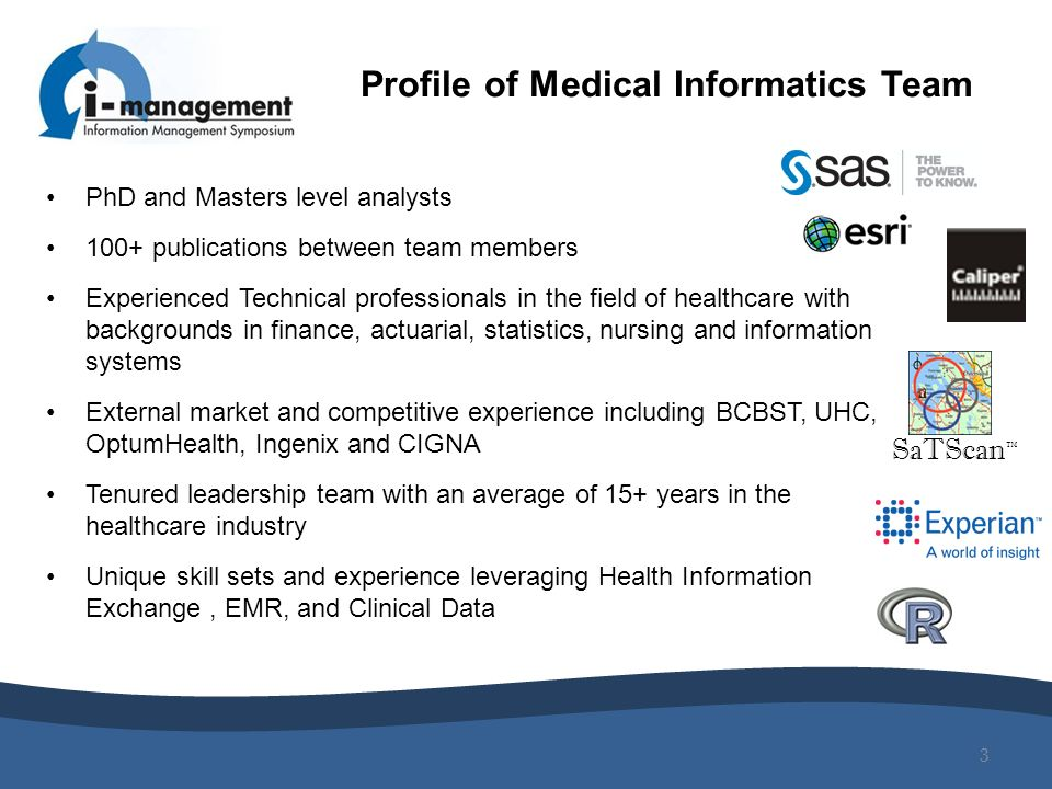 Profile of Medical Informatics Team