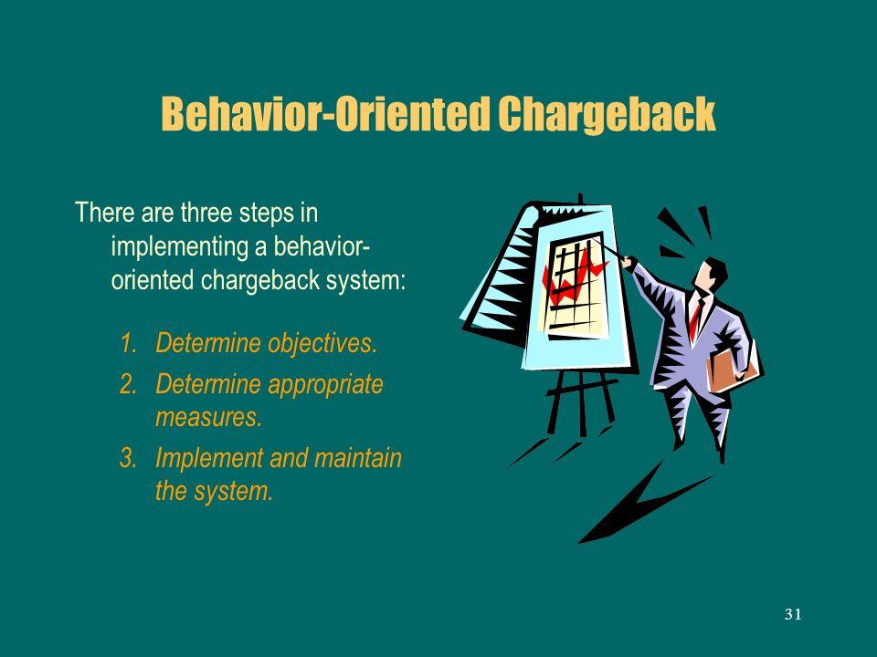 Behavior-Oriented Chargeback