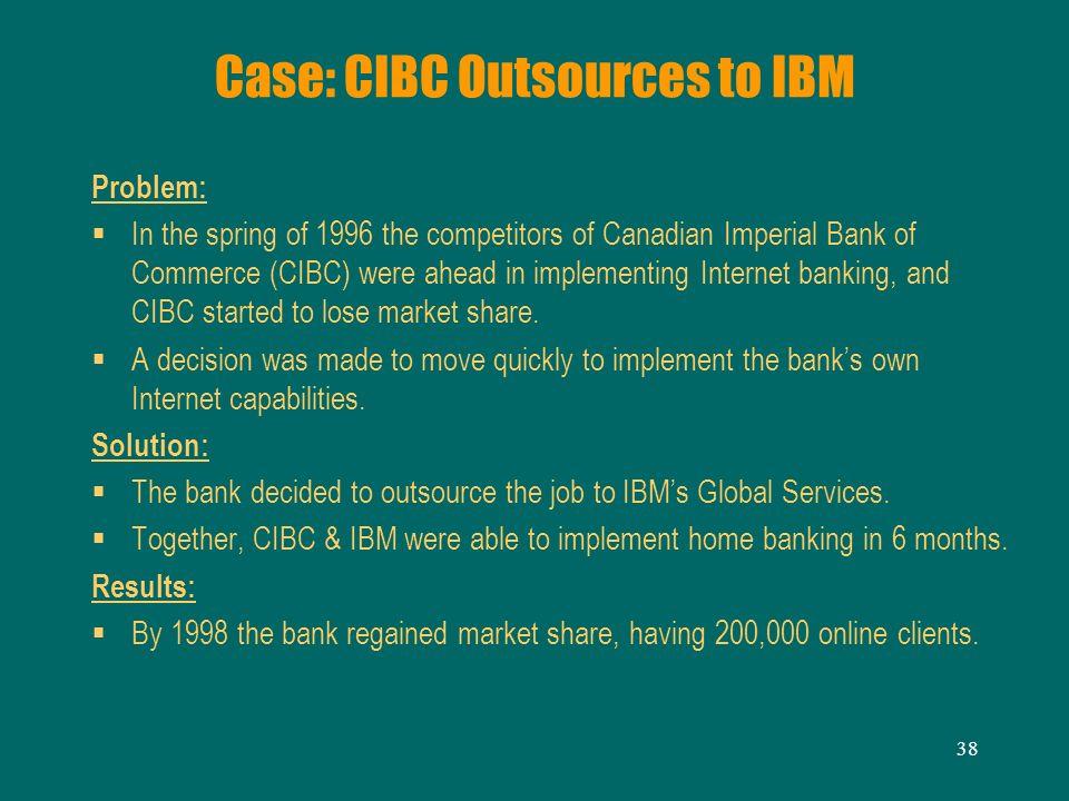 Case: CIBC Outsources to IBM