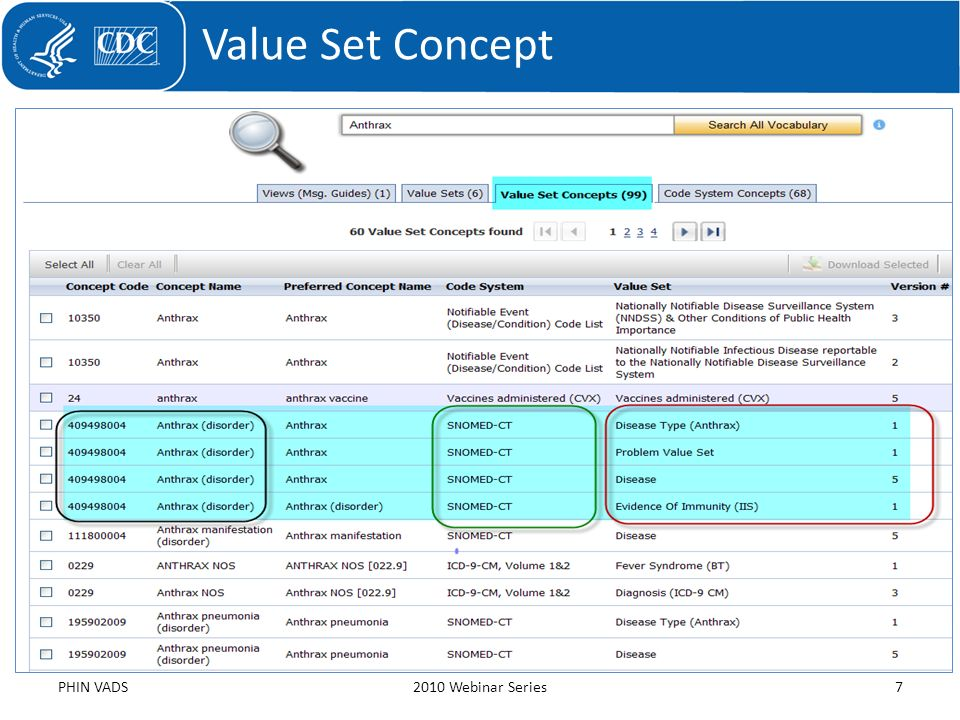 Value Set Concept PHIN VADS 2010 Webinar Series
