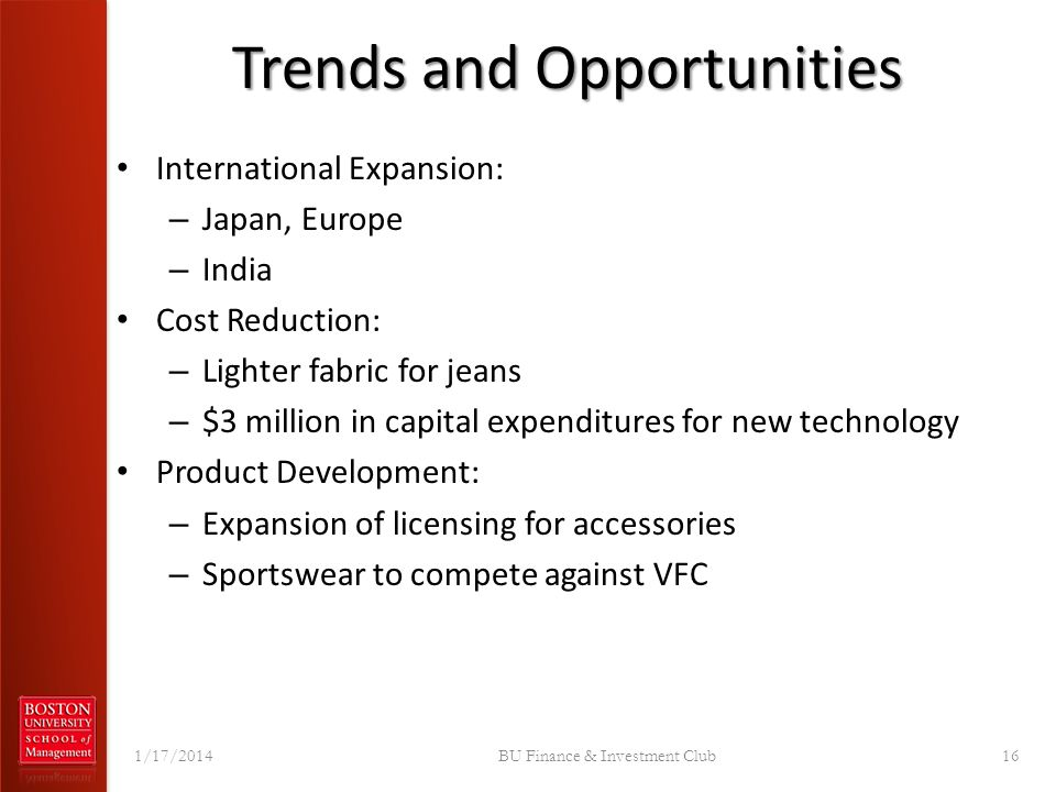 Trends and Opportunities