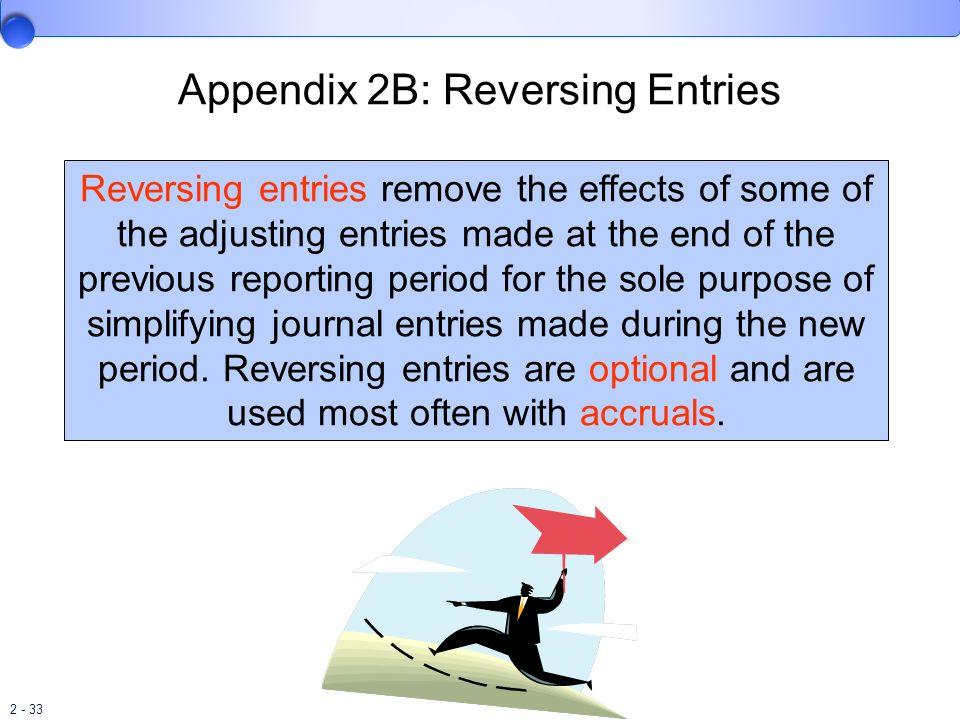 Appendix 2B: Reversing Entries