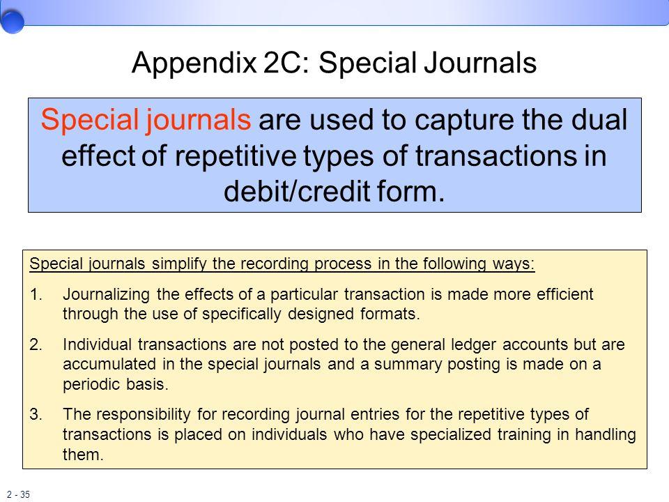 Appendix 2C: Special Journals
