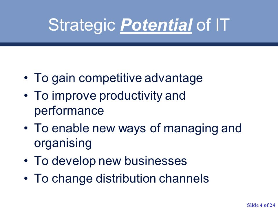 Strategic Potential of IT