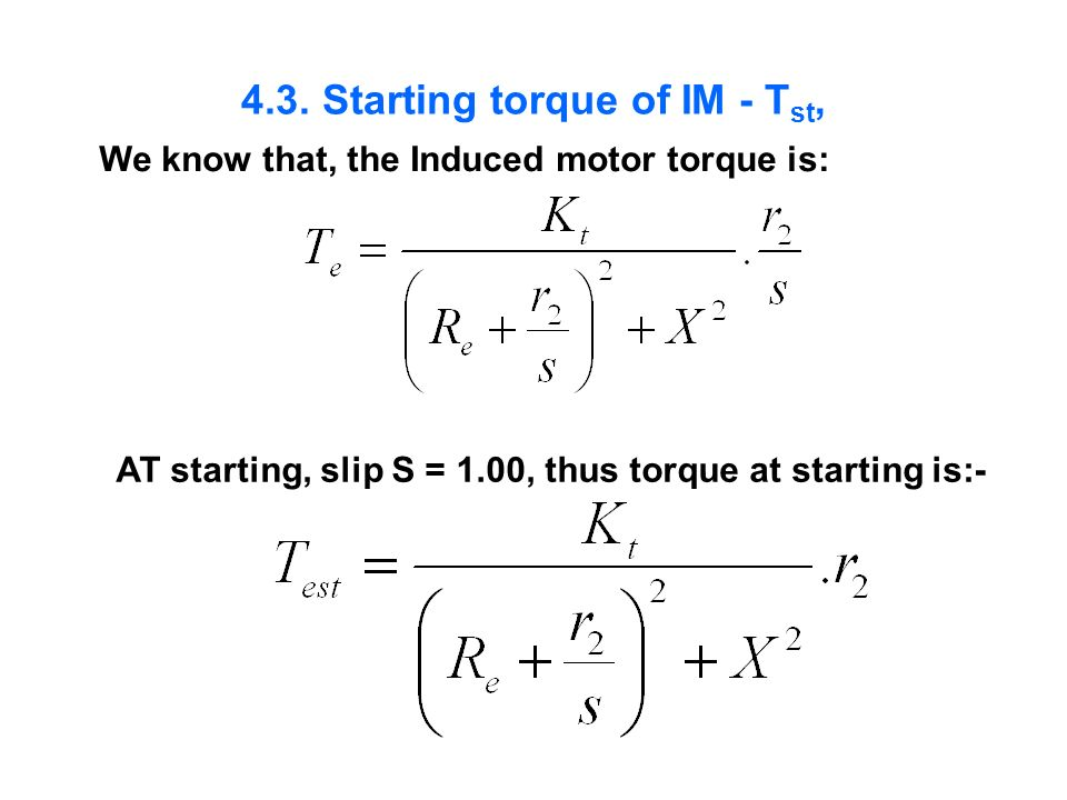4.3. Starting torque of IM - Tst,