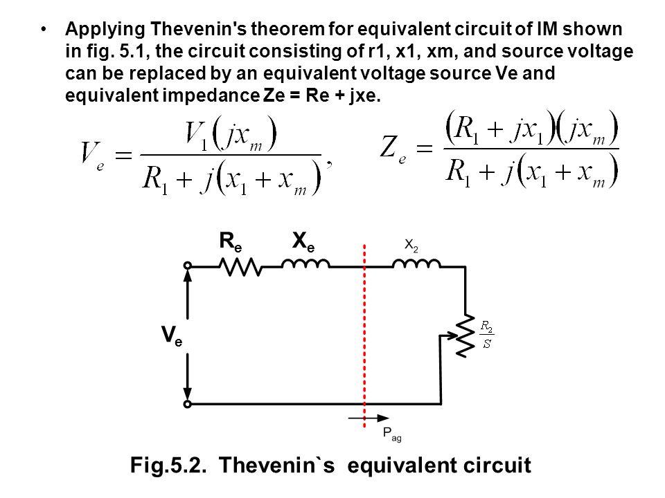 Fig.5.2. Thevenin`s equivalent circuit