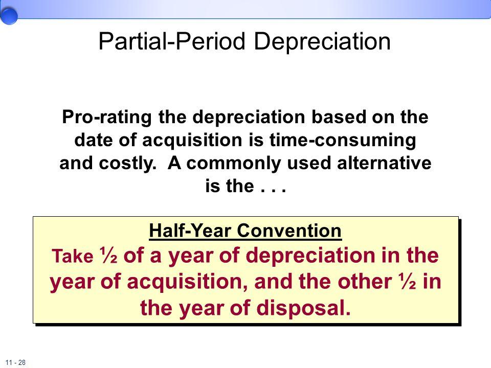 Partial-Period Depreciation