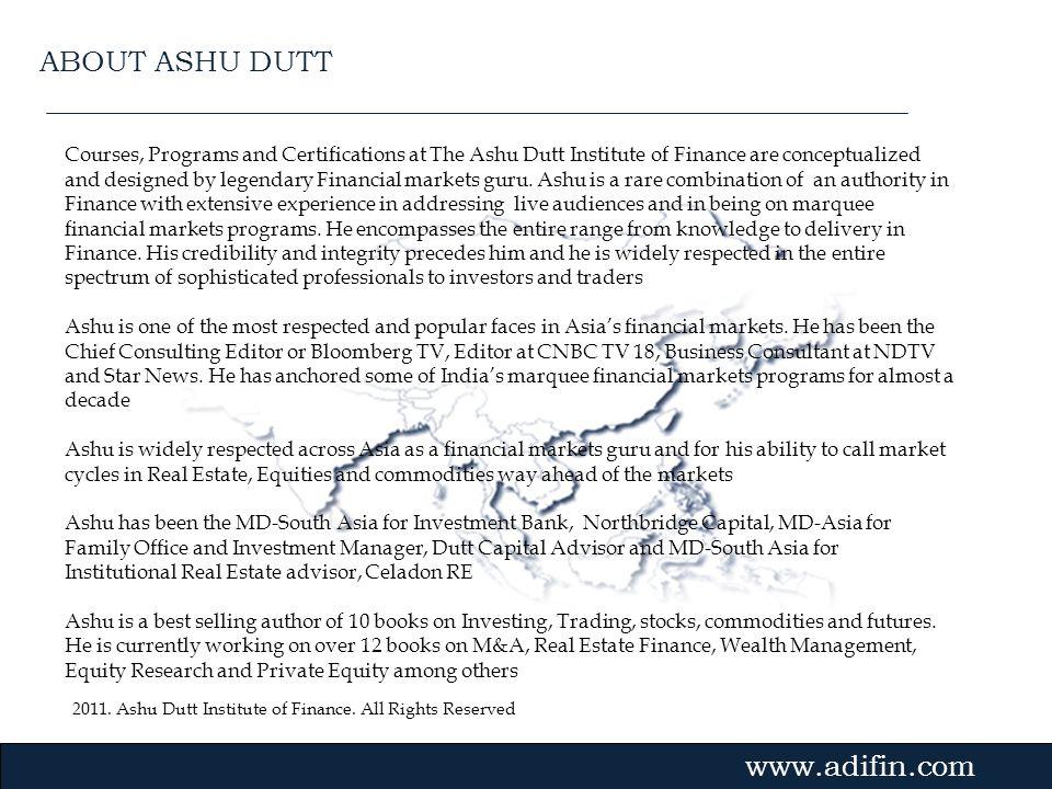 ABOUT ASHU DUTT