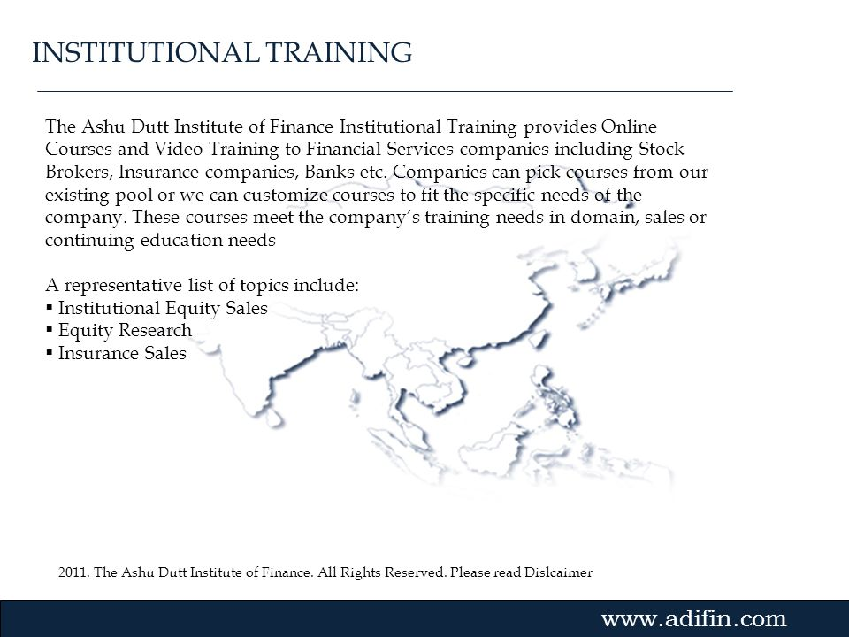INSTITUTIONAL TRAINING