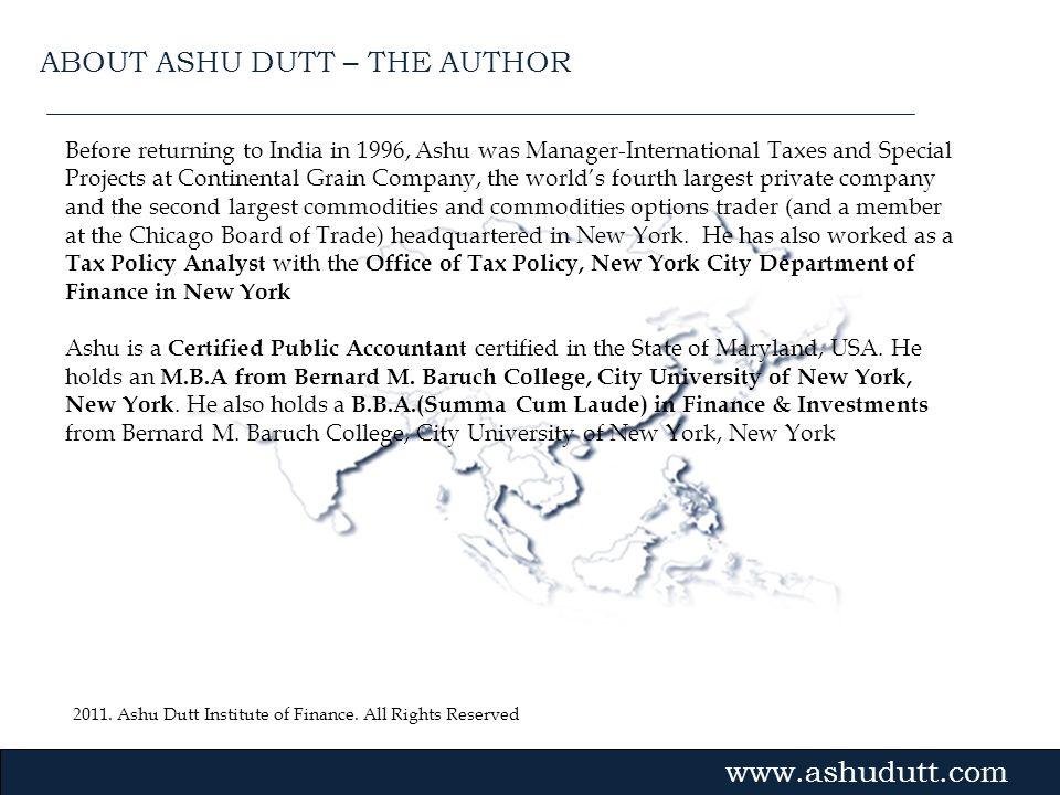 ABOUT ASHU DUTT – THE AUTHOR
