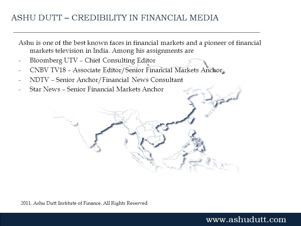 ASHU DUTT – CREDIBILITY IN FINANCIAL MEDIA