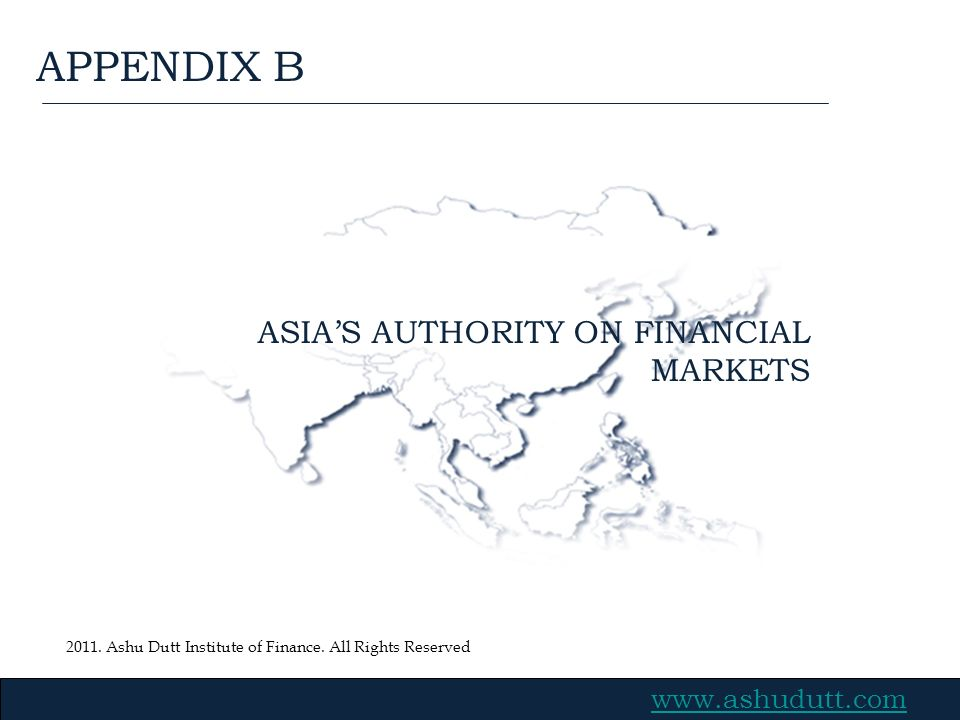 ASIA'S AUTHORITY ON FINANCIAL MARKETS