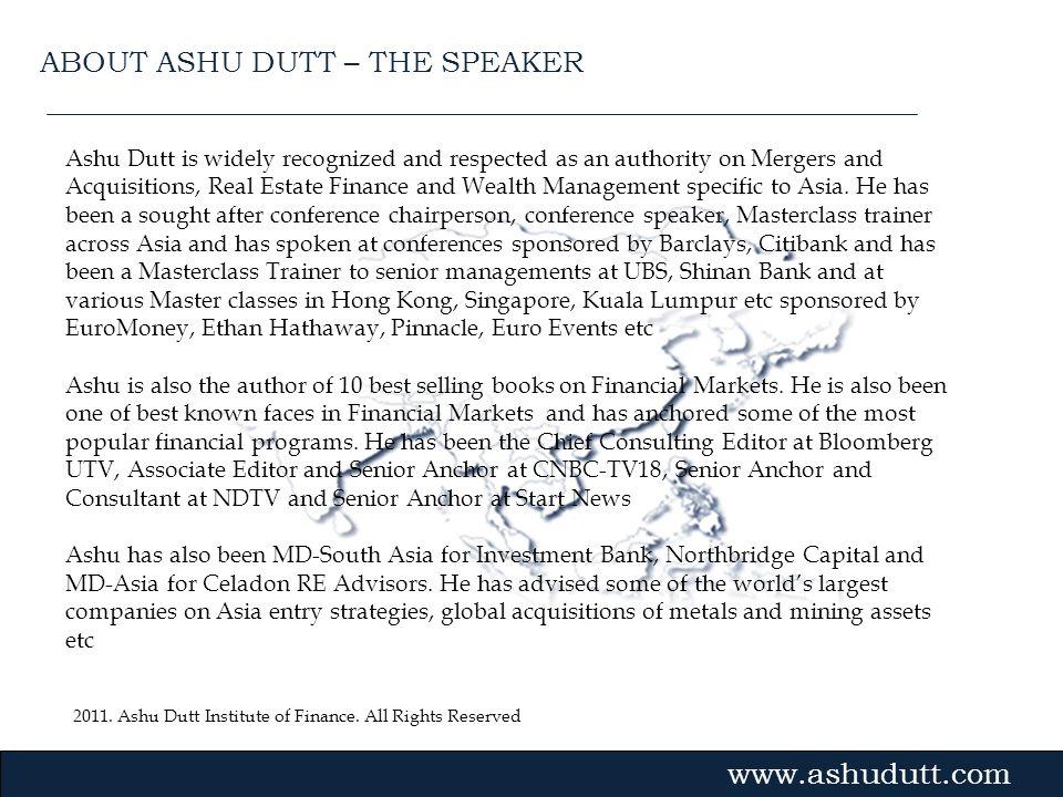 ABOUT ASHU DUTT – THE SPEAKER