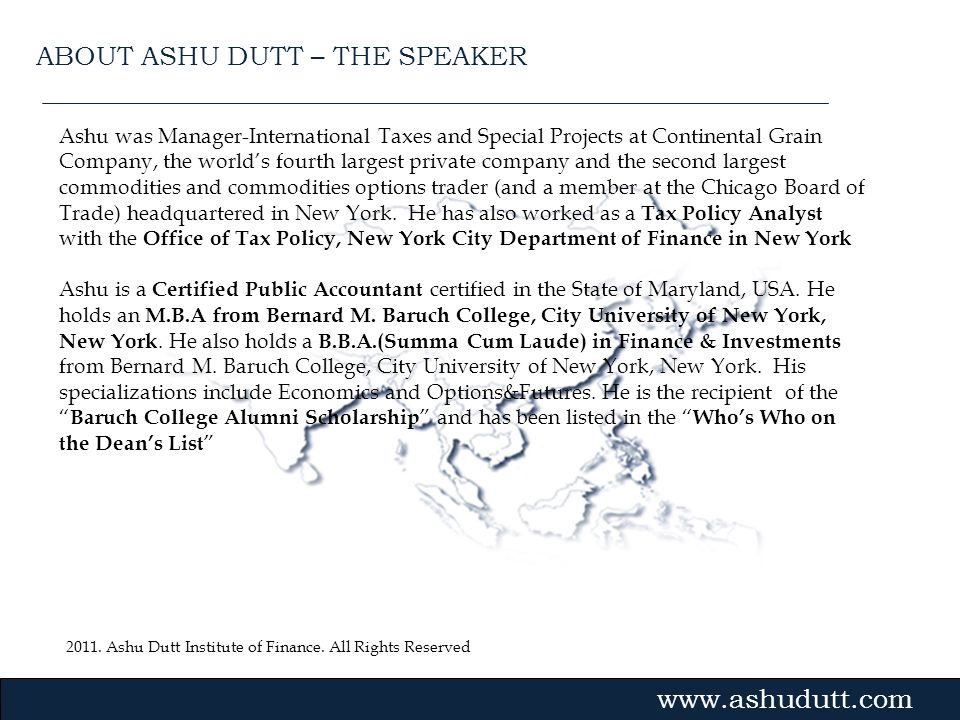 ABOUT ASHU DUTT – THE SPEAKER