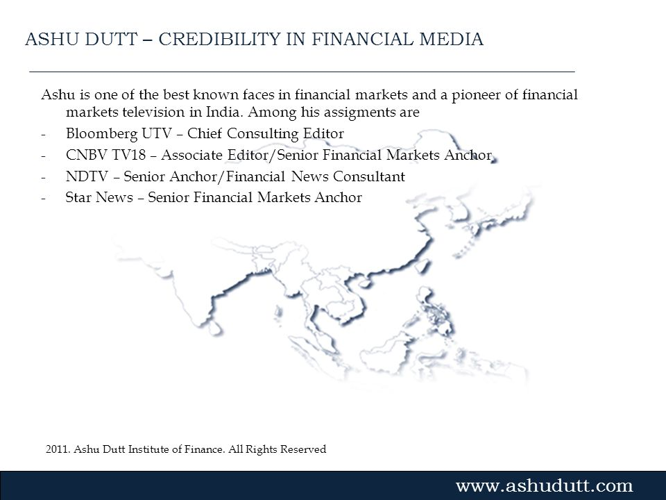 ASHU DUTT – CREDIBILITY IN FINANCIAL MEDIA