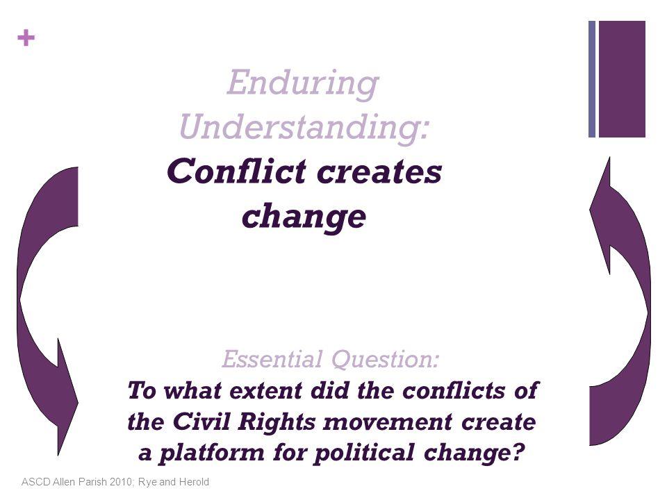 Enduring Understanding: Conflict creates change
