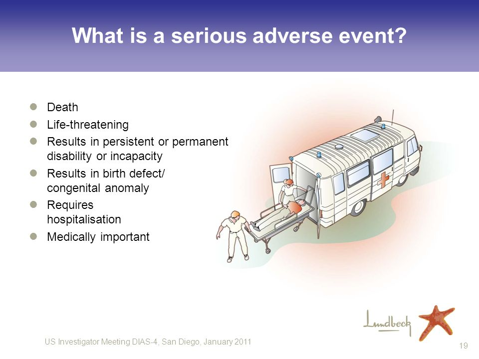 What is a serious adverse event