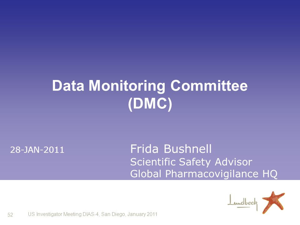 Data Monitoring Committee (DMC)