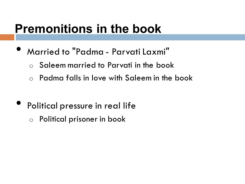 Premonitions in the book