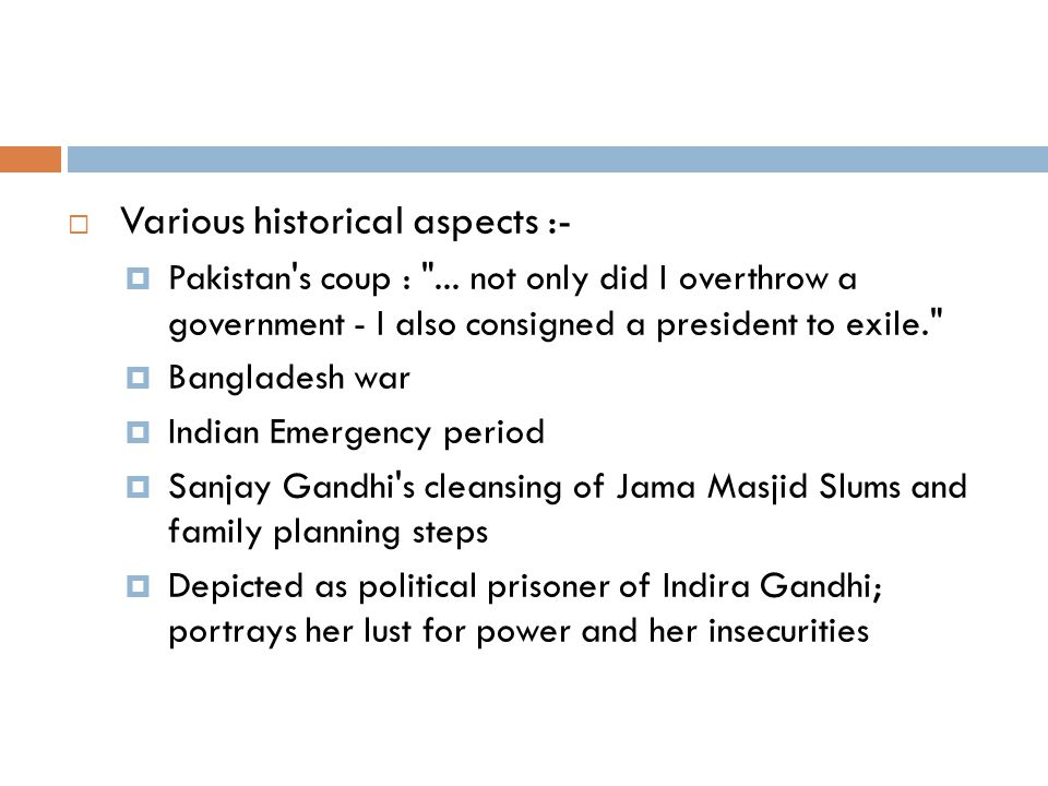 Various historical aspects :-