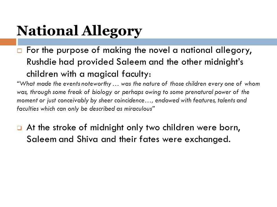 National Allegory