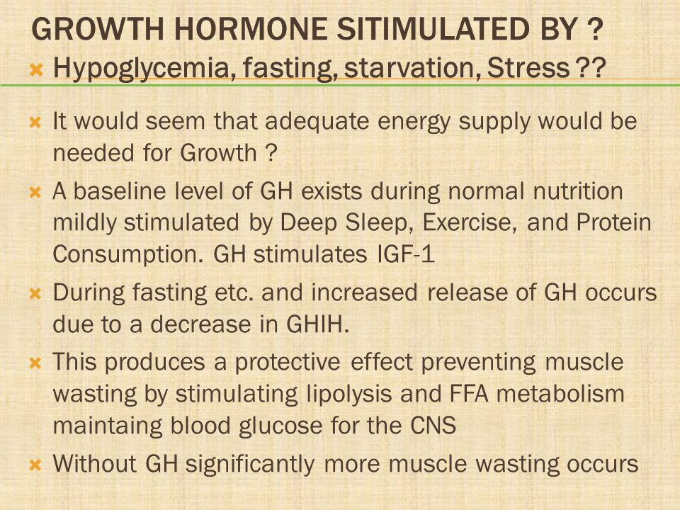 Growth Hormone Sitimulated BY