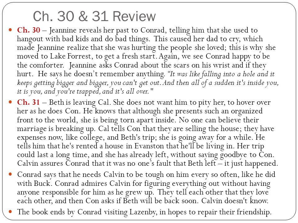 Ch. 30 & 31 Review