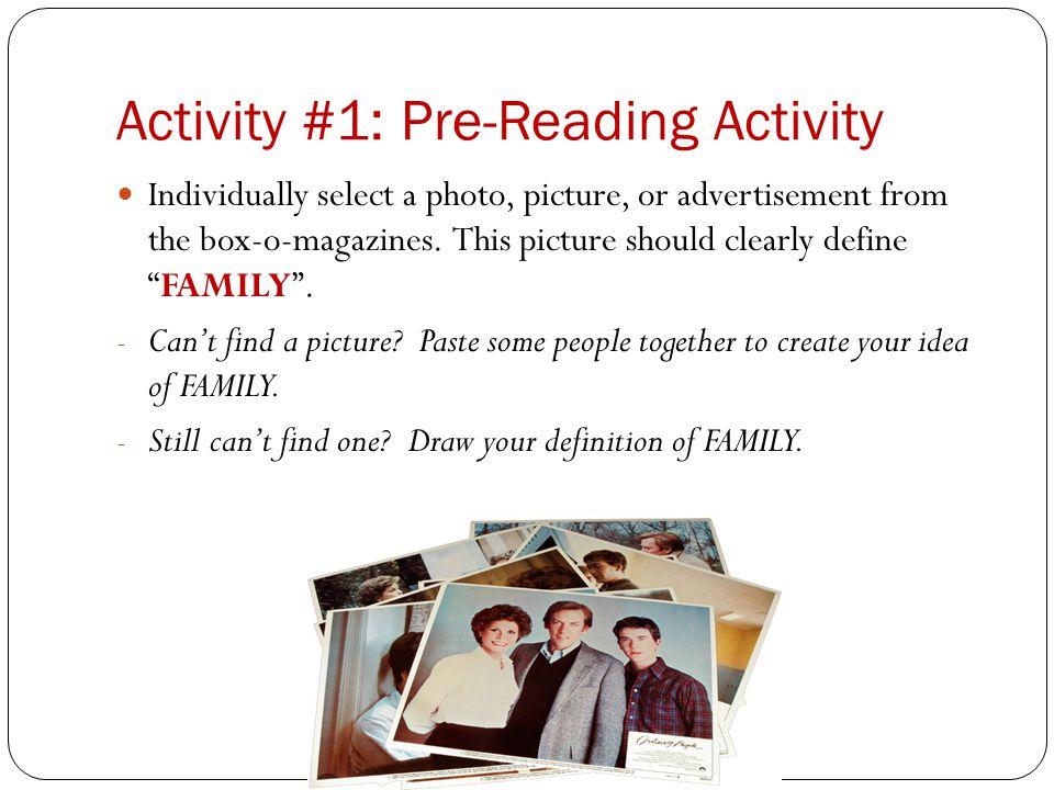 Activity #1: Pre-Reading Activity
