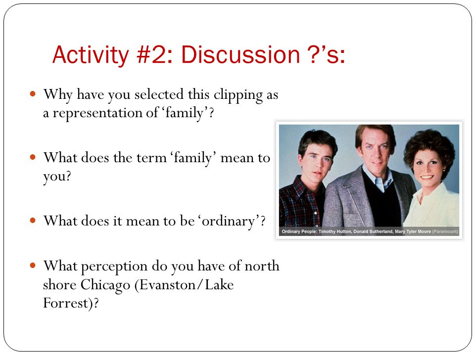 Activity #2: Discussion 's:
