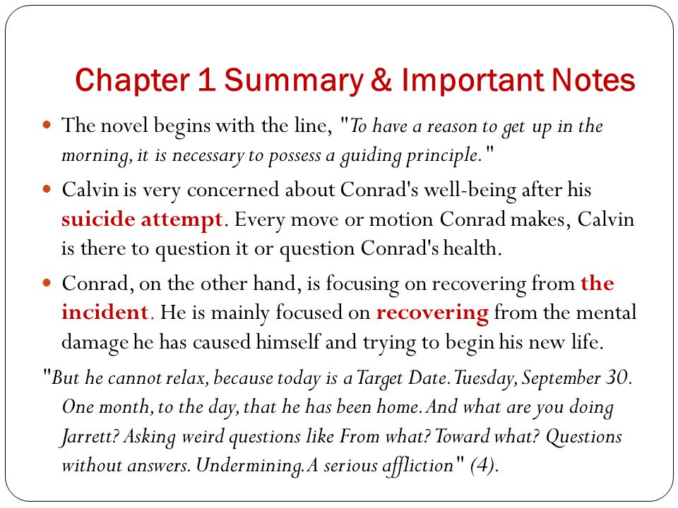 Chapter 1 Summary & Important Notes