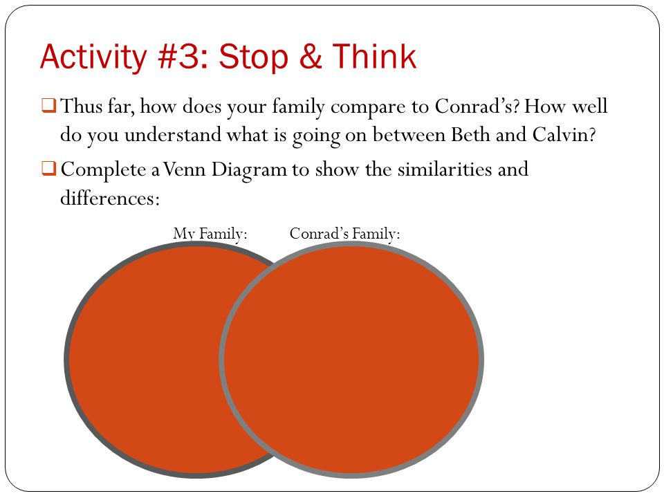 Activity #3: Stop & Think