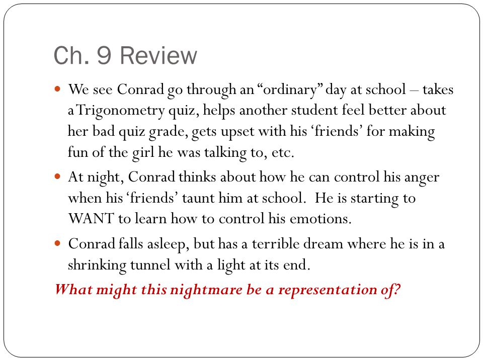 Ch. 9 Review