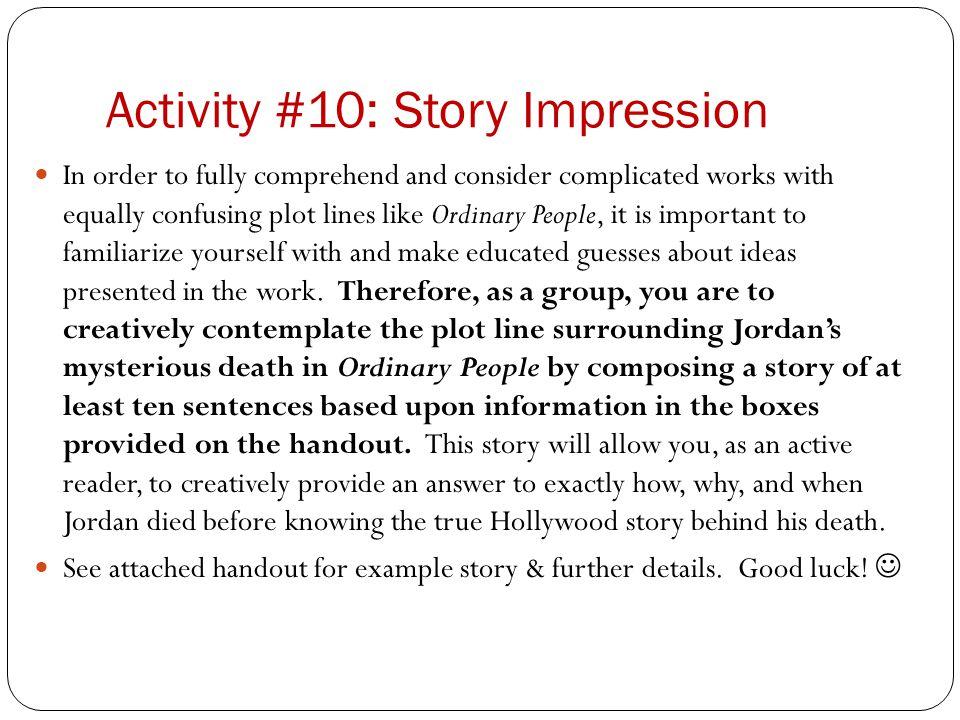Activity #10: Story Impression