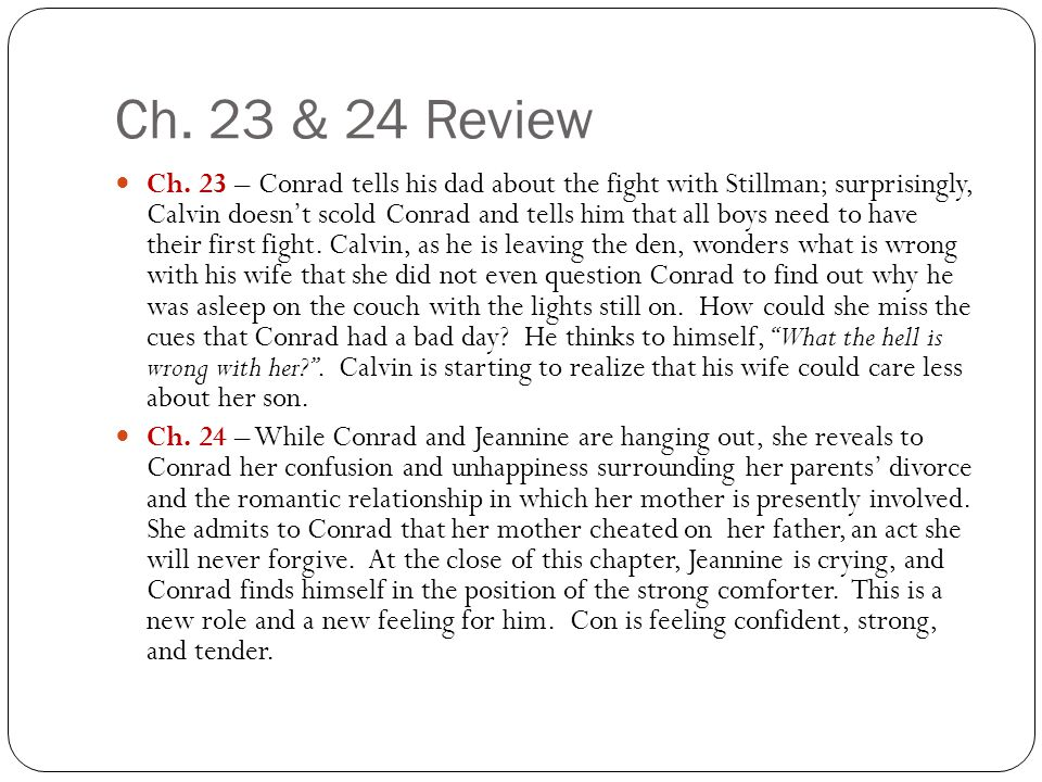 Ch. 23 & 24 Review