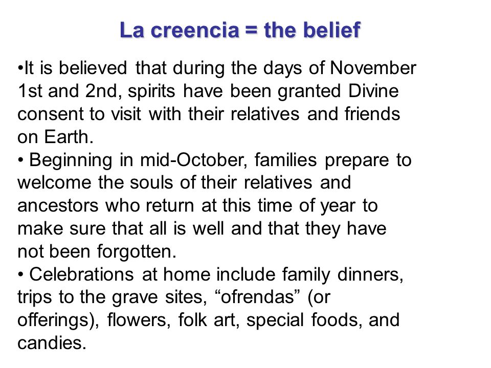 La creencia = the belief